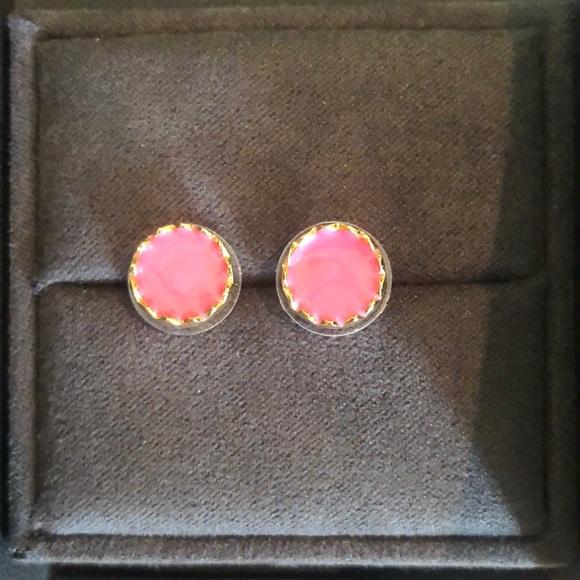 Pink Kate Spade stud earrings